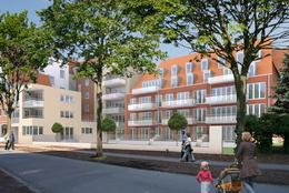 dominus-wohnbau Neubau von Wohnungen an der Promenade, Münster